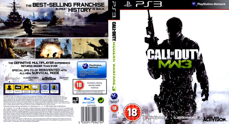 Call of Duty: Modern Warfare 3 Array coverfullM (BLES01428)
