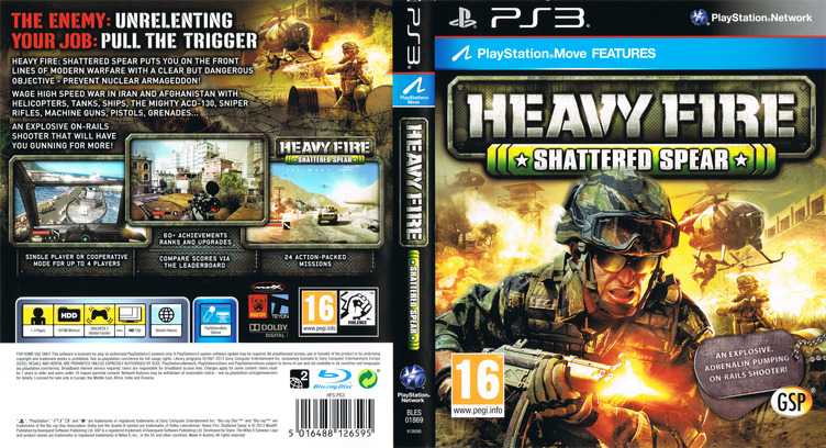 Heavy Fire: Shattered Spear PS3 coverfullM (BLES01869)