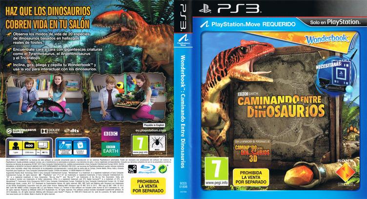 Wonderbook: Caminando entre Dinosaurios PS3 coverfullM (BCES01806)