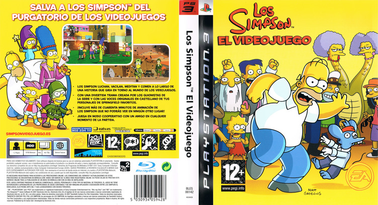 Los Simpsons: El Videojuego PS3 coverfullM (BLES00142)