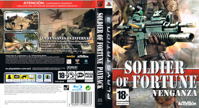 Soldier of Fortune: Venganza PS3 coverfullM (BLES00189)