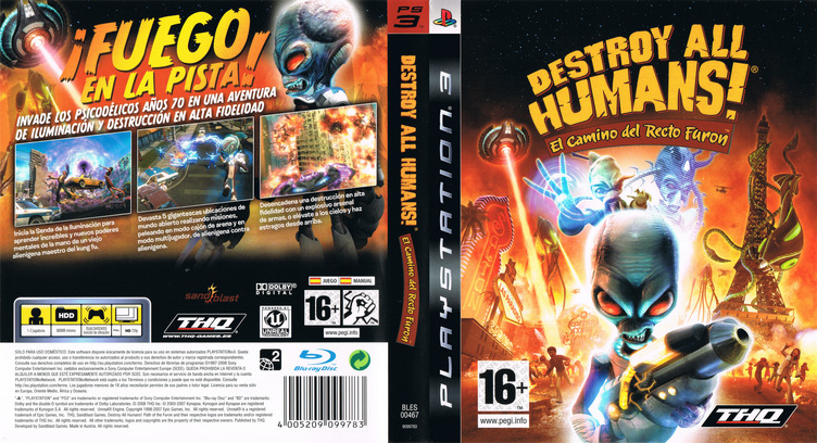 Destroy All Humans! El Camino del Recto Furon PS3 coverfullM (BLES00467)