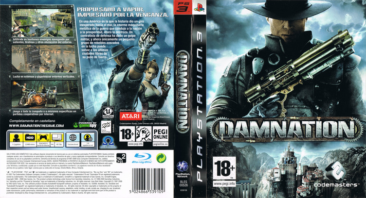 Damnation PS3 coverfullM (BLES00526)