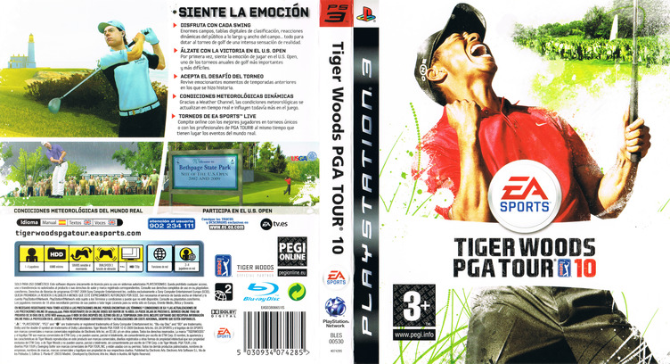 Tiger Woods PGA Tour 10 PS3 coverfullM (BLES00530)