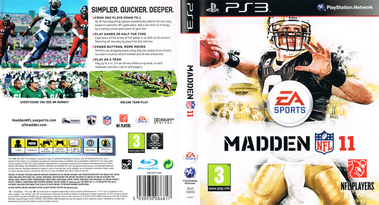 Madden NFL 11 PS3 coverfullM (BLES00916)