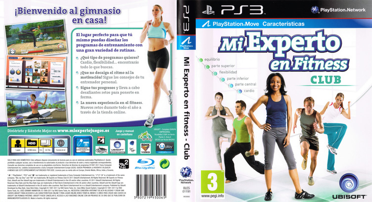 Mi Experto en Fitness - Club PS3 coverfullM (BLES01191)