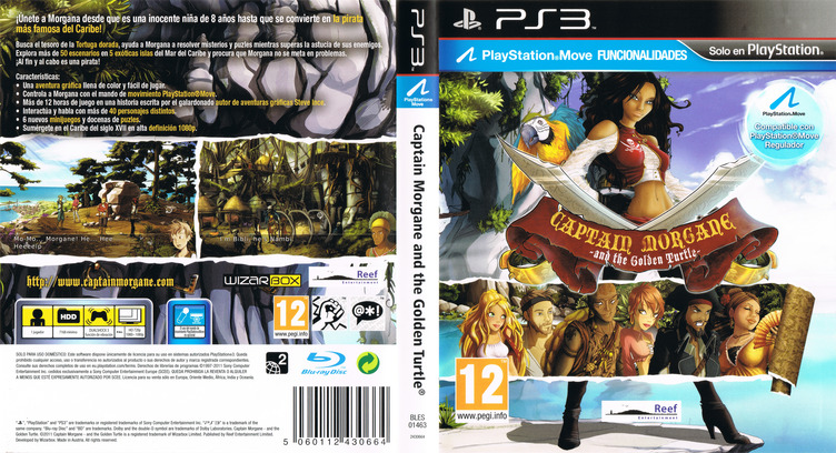 Captain Morgane and the Golden Turtle PS3 coverfullM (BLES01463)
