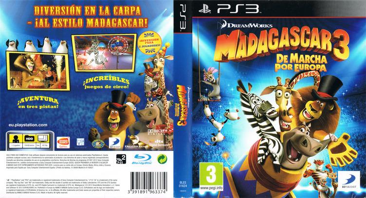 Madagascar 3: De Marcha por Europa PS3 coverfullM (BLES01624)