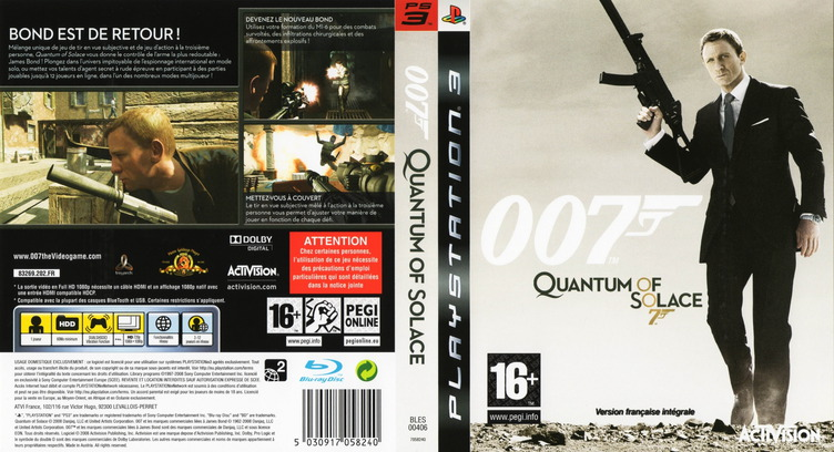 007 : Quantum of Solace PS3 coverfullM (BLES00406)