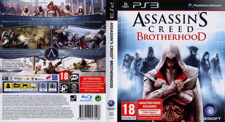 Assassin's Creed: Brotherhood PS3 coverfullM (BLES00909)