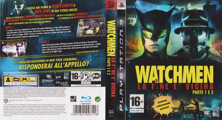 Watchmen: La Fine E' Vicina - Parte 1&2 PS3 coverfullM (BLES00605)