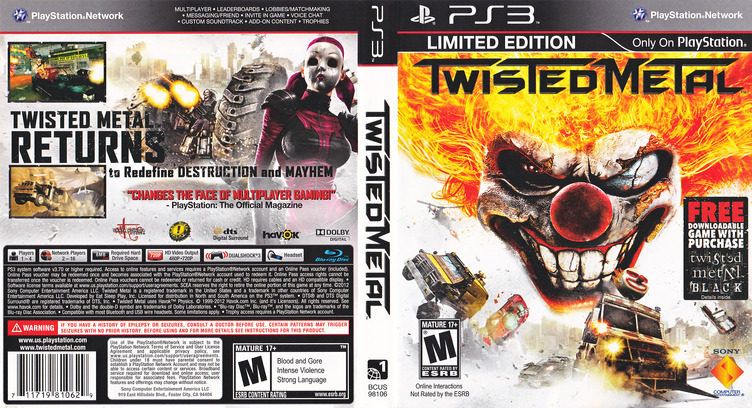 Twisted Metal PS3 coverfullM (BCUS98106)