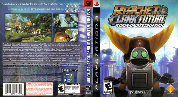 Ratchet & Clank: Future - Tools of Destruction PS3 coverfullM (BCUS98127)