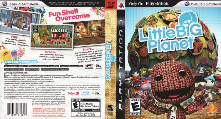LittleBigPlanet PS3 coverfullM (BCUS98148)