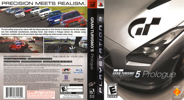 Gran Turismo 5: Prologue PS3 coverfullM (BCUS98158)