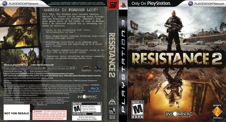 Resistance 2 (Collector's Edition) PS3 coverfullM (BCUS98190)