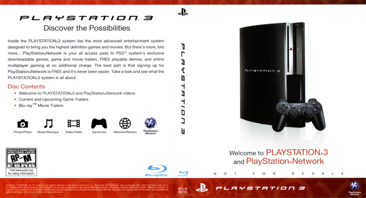 Welcome to PlayStation Network and PlayStation 3 160GB PS3 coverfullM (BCUS98195)
