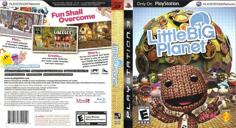 LittleBigPlanet PS3 coverfullM (BCUS98199)