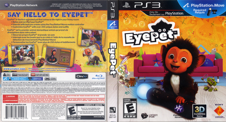 EyePet: Move Edition PS3 coverfullM (BCUS98214)