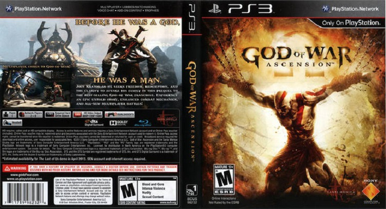 God of War: Ascension PS3 coverfullM (BCUS98232)