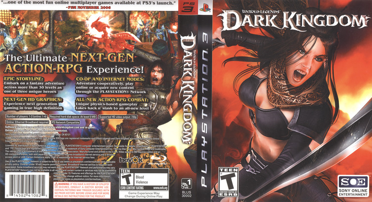 Untold Legends: Dark Kingdom PS3 coverfullM (BLUS30002)