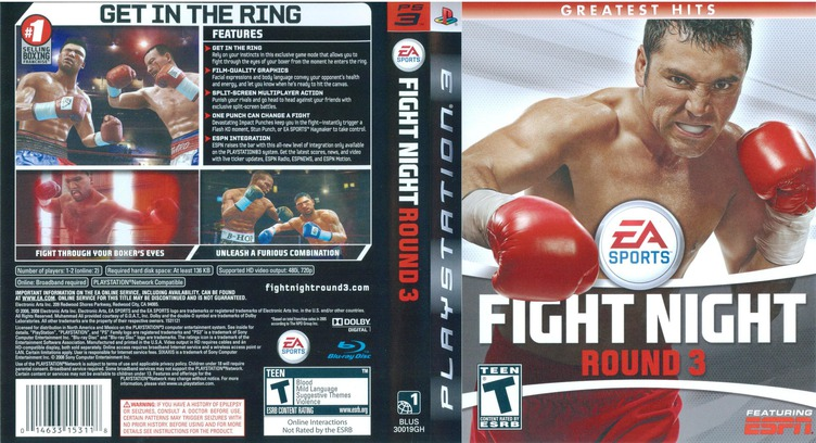 Fight Night: Round 3 PS3 coverfullM (BLUS30019)