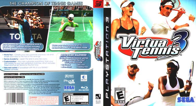 Virtua Tennis 3 PS3 coverfullM (BLUS30021)