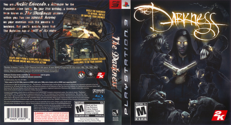 The Darkness PS3 coverfullM (BLUS30035)