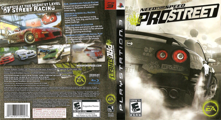 Need for Speed: ProStreet PS3 coverfullM (BLUS30066)