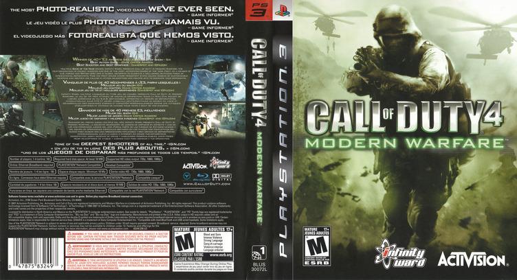 Call of Duty 4: Modern Warfare PS3 coverfullM (BLUS30072)