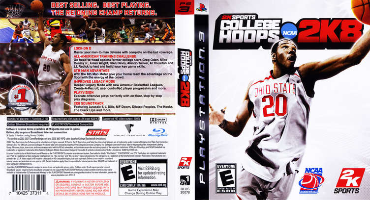 College Hoops 2K8 PS3 coverfullM (BLUS30078)