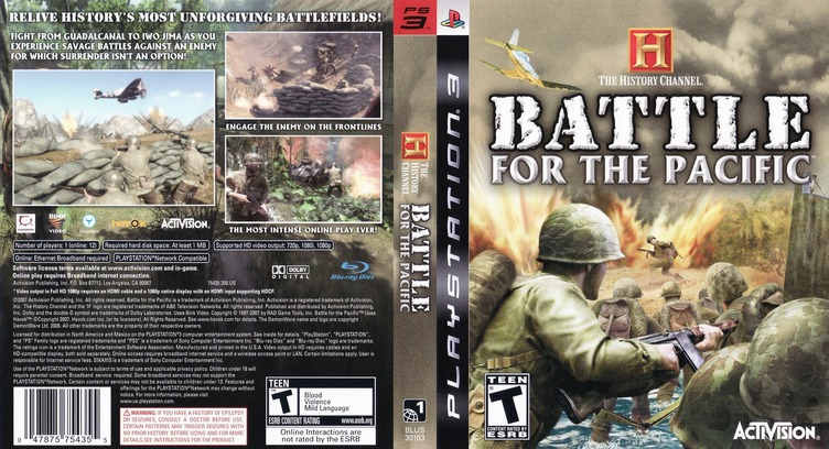 History Channel: Battle for the Pacific PS3 coverfullM (BLUS30103)