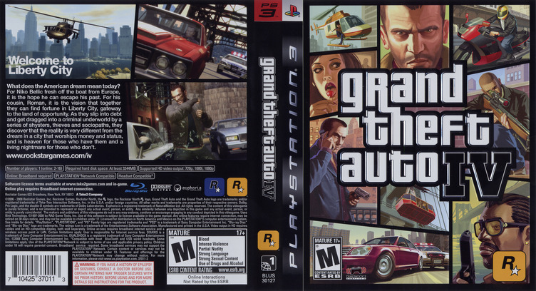 Grand Theft Auto IV PS3 coverfullM (BLUS30127)