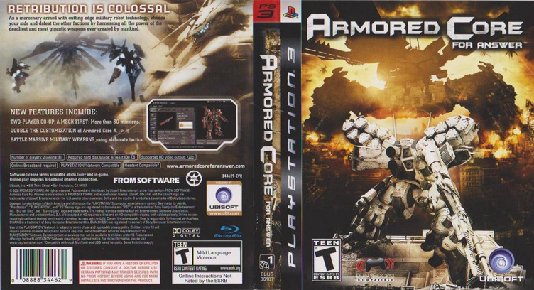 Armored Core: For Answer Array coverfullM (BLUS30187)