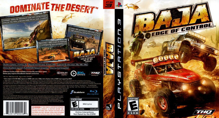 Baja: Edge of Control PS3 coverfullM (BLUS30191)