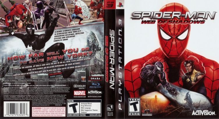 Spider-Man: Web of Shadows PS3 coverfullM (BLUS30218)