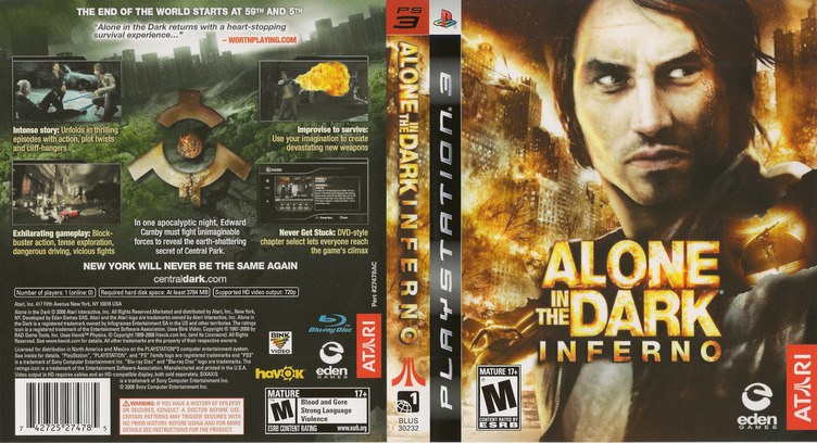 Alone in the Dark: Inferno PS3 coverfullM (BLUS30232)