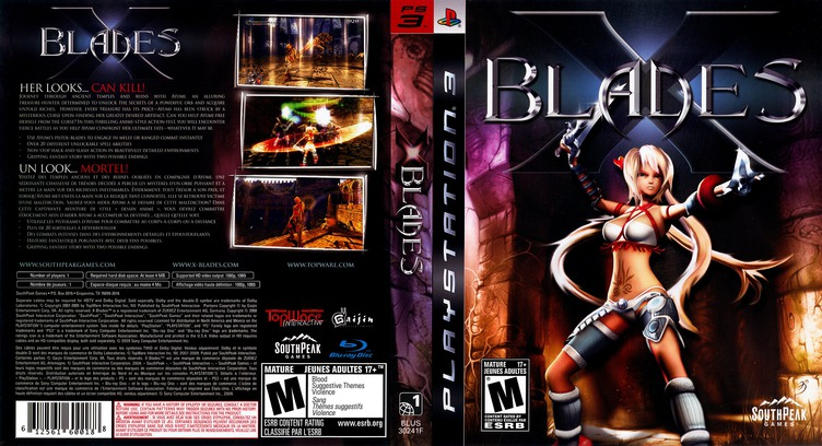 X-Blades PS3 coverfullM (BLUS30241)