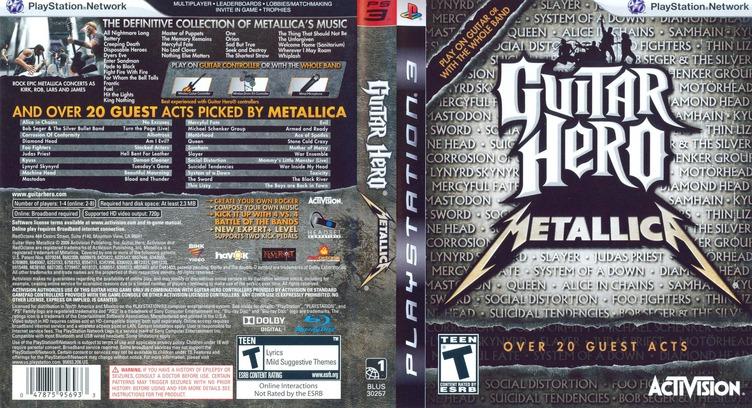 Guitar Hero: Metallica PS3 coverfullM (BLUS30257)