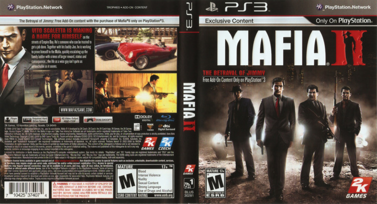 Mafia II PS3 coverfullM (BLUS30281)