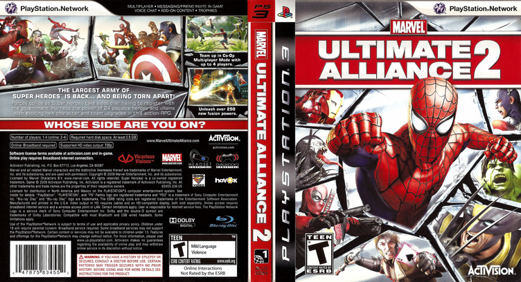 Marvel: Ultimate Alliance 2 PS3 coverfullM (BLUS30294)