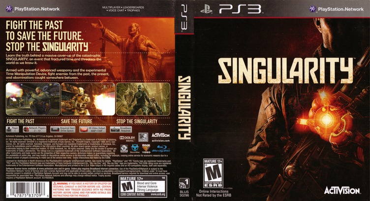 Singularity PS3 coverfullM (BLUS30296)