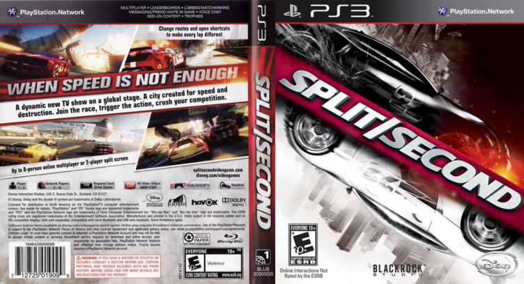 Split / Second PS3 coverfullM (BLUS30300)