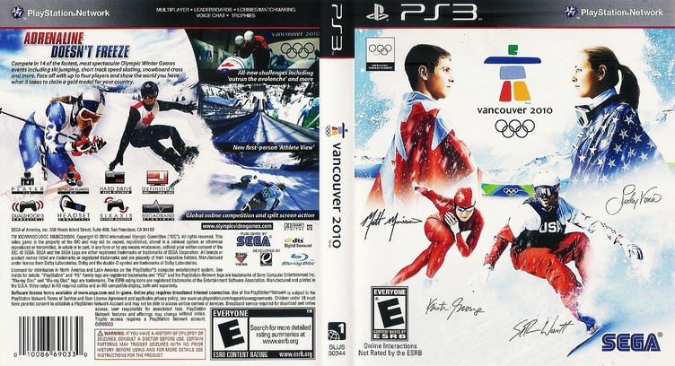 Vancouver 2010: The Official Video Game of the Olympic Games Array coverfullM (BLUS30344)