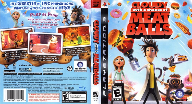 Cloudy with a Chance of Meatballs PS3 coverfullM (BLUS30363)