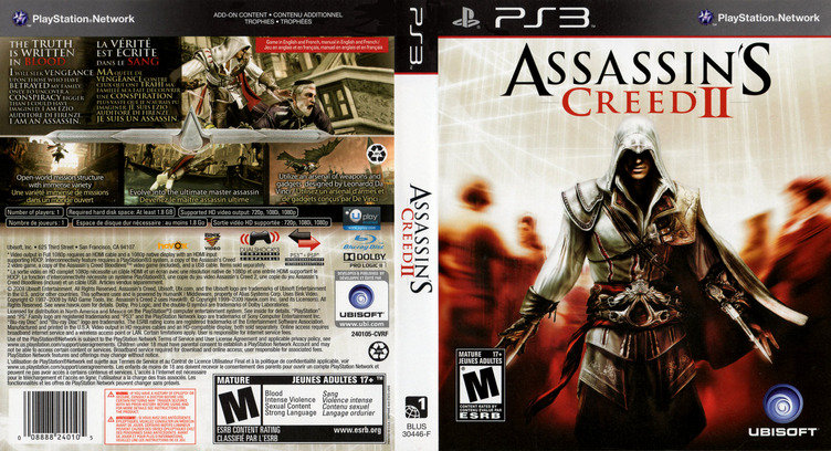 Assassin's Creed II PS3 coverfullM (BLUS30364)