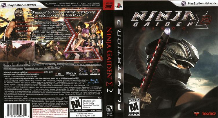 Ninja Gaiden: Sigma 2 PS3 coverfullM (BLUS30380)