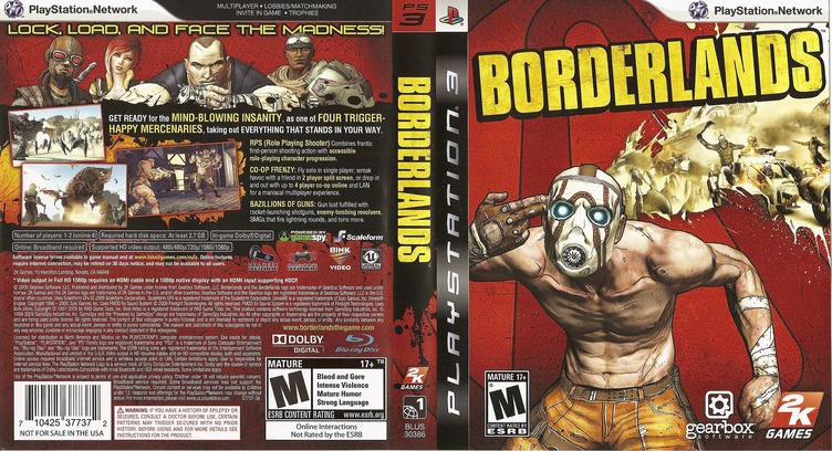 Borderlands PS3 coverfullM (BLUS30386)