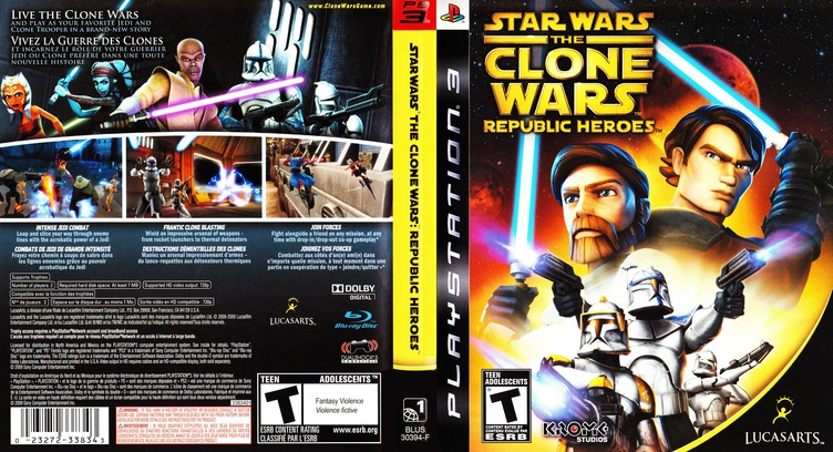 Star Wars The Clone Wars: Republic Heroes PS3 coverfullM (BLUS30394)