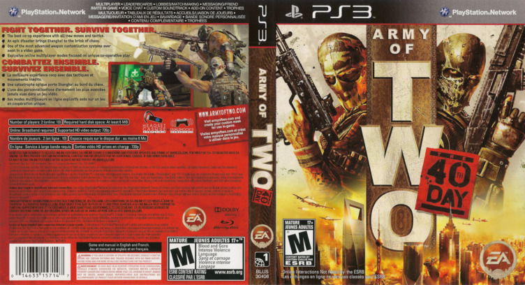 Army of Two: The 40th Day PS3 coverfullM (BLUS30408)